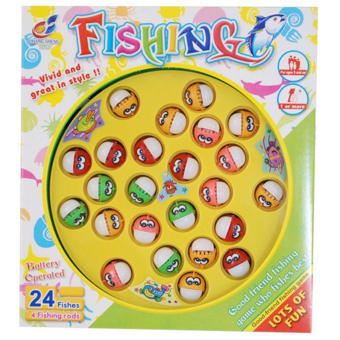 Fiskespel barn magnet med 24 fiskar ålder 3+. För 1-4 personer. LillaFilur.se