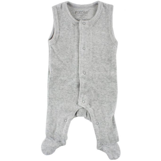 Prematur pyjamas med fot storlek 32, 38, 44, 50, 56. Mjuk skön pyjamas / sparkdräkt för prematur och baby i velour. LillaFilur.se