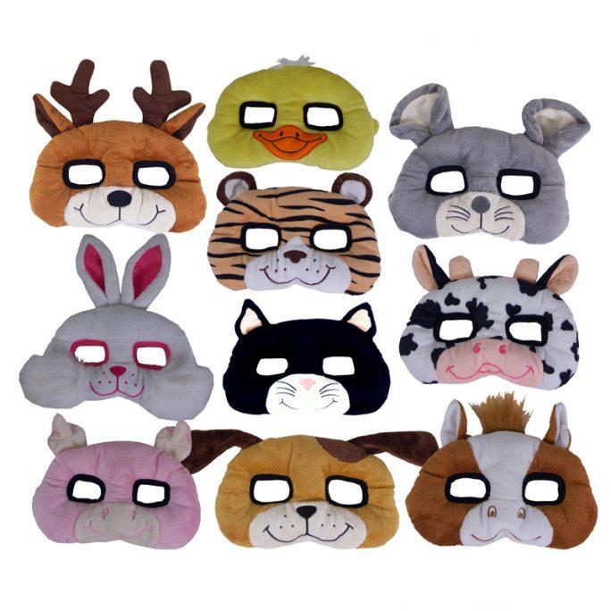 Ansiktsmask utklädning barn djur. Fina djurmasker för barn. Finns många olika sorter. Till exempel häst, kossa, kanin, anka, mus, hund, gris mm. Beställ utklädningskläder för barn hos LillaFilur.se