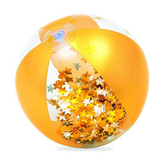 Badboll glitter fylld med guldkonfetti. Beställ badbollar på LillaFilur.se