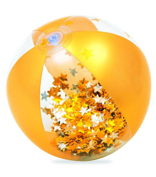 Badboll guld med konfetti