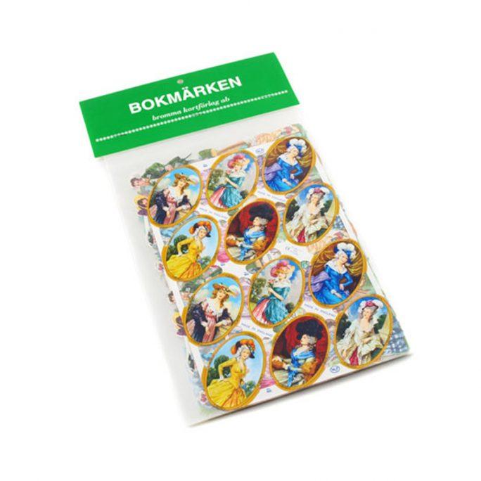 Bokmärken Gammeldags Klassiska. 5 olika ark med bokmärken. Köp bokmärken och bokmärkesalbum på LillaFilur.se