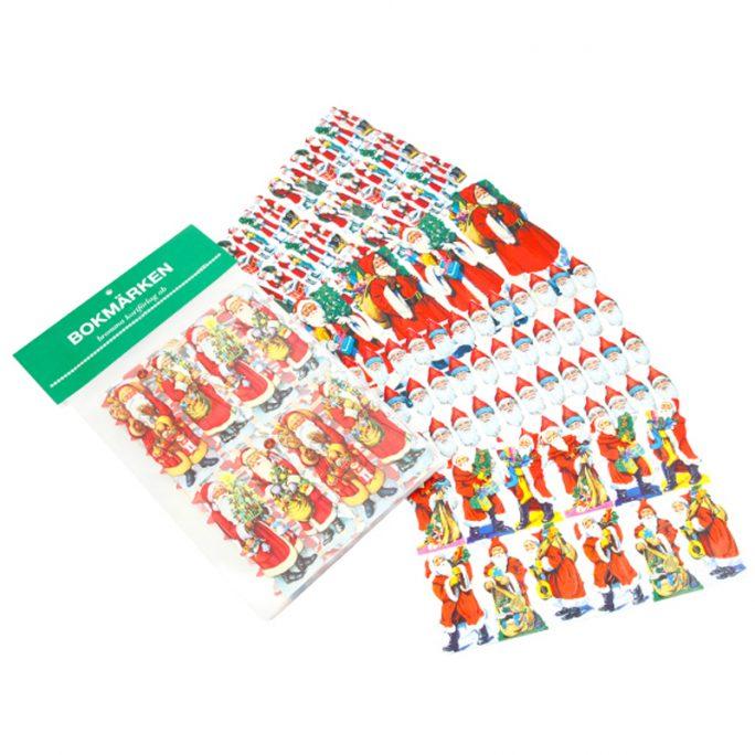 Bokmärken tomtar 5 kartor. Paket med jul bokmärken tomtar. Innehåller 5 olika paket med klassiska tomte bokmärken för julpyssel och scrapbooking. Beställ bokmärkesalbum och bokmärken på LillaFilur.se