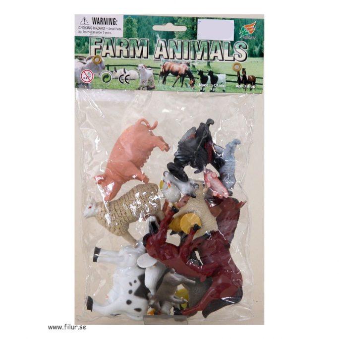 Bondgårdsdjur plast 20-pack. Beställ leksaksdjur på nätet hos LillaFilur.se