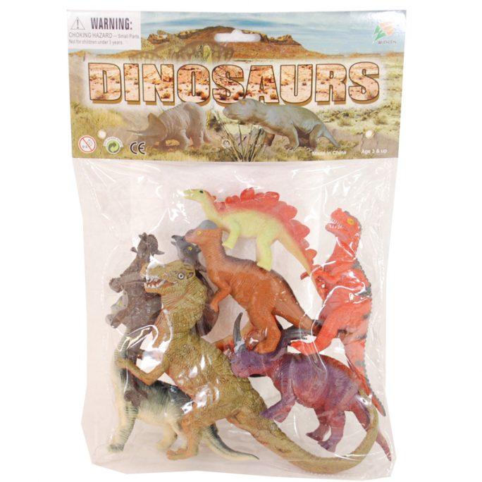 Dinosaurier leksaker i påse 9-pack. Dinosaurier plast olika sorter och storlekar. Beställ dinosaurie leksaker hos LillaFilur.se