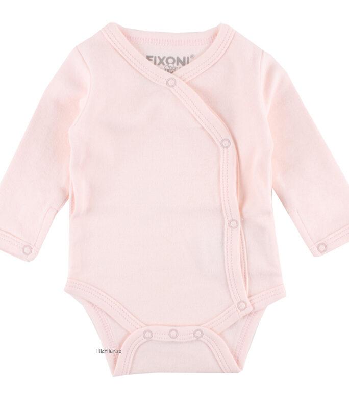 Rosa omlottbody för nyfödd och prematur. LillaFilur.se