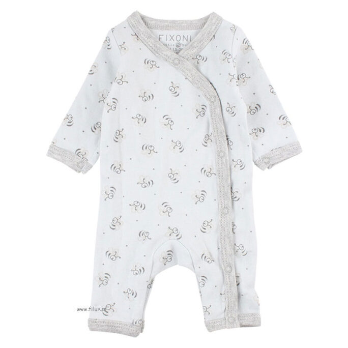 fixoni sparkdräkt blå bin för nyfödd baby och prematur baby, LillaFilur.se