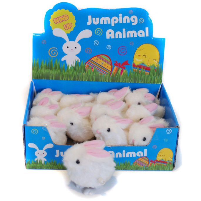 Vrid upp leksak. Söt liten Kanin. Vrid upp så hoppar den fram. Lägg i påskägget eller i julkalendern. LillaFilur.se