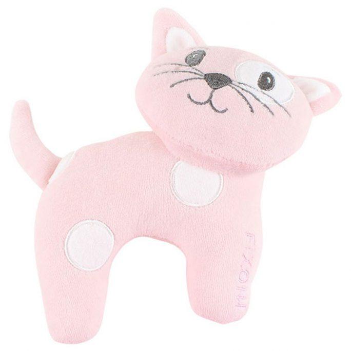 Katt mjukdjur rosa. Söt katt. Beställ Fixoni babykläder, prematurkläder och barnkläder på LillaFilur.se