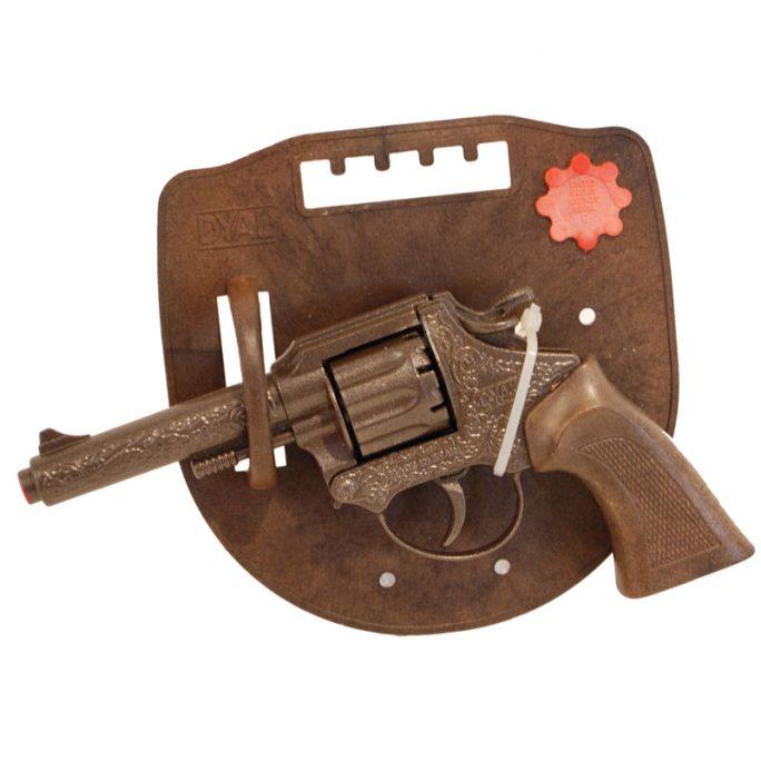 Knallpulver revolver 8-skott Dyal. Tänk på att köpa knallpulverskott 8-ring till denna knallpulver pistol. LillaFilur.se