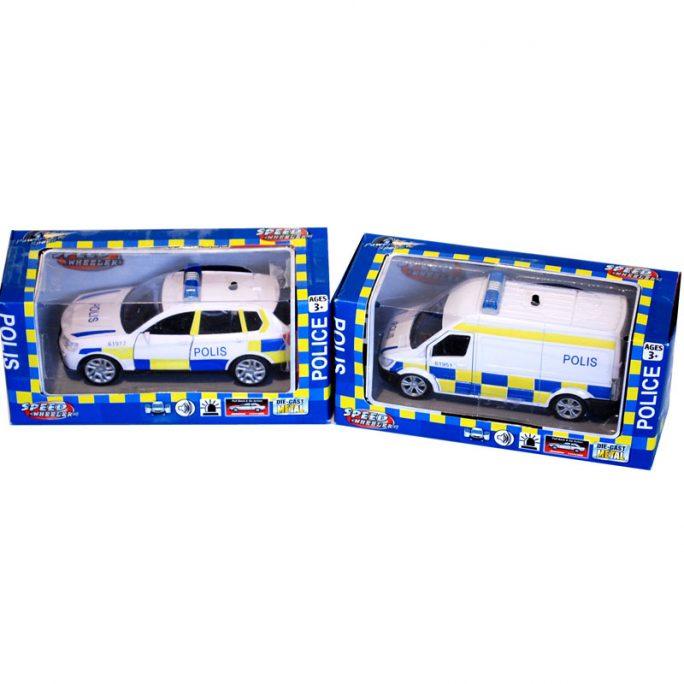 Leksaksbil polisbil med ljus och ljud. LillaFilur.se