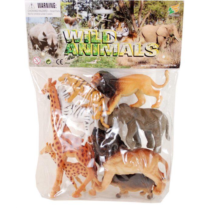 Leksaksdjur i plast. Påse med vilda djur i plast. Större leksaksdjur. 10-pack. Beställ leksaksdjur på LillaFilur.se