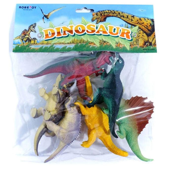 Leksaksdjur plastdinosaurier 6-pack 12-17 cm.