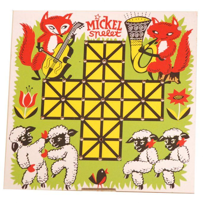 Klassiskt barnspel Mickel Spelet, Rävspelet. Beställ Rävspelet och Mickelspelet på LillaFilur.se