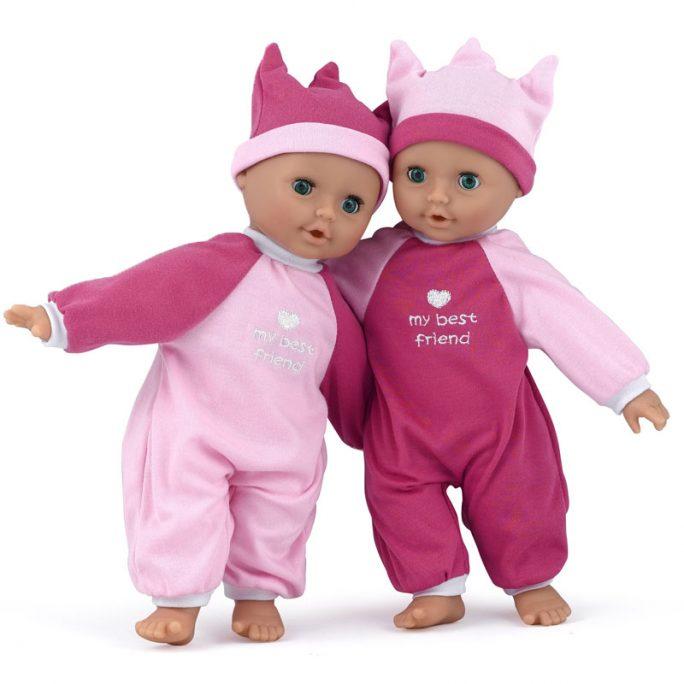 Mjuk docka med kläder och ögon som kan blinka. Storlek 30 cm. Omgående leverans. LillaFilur.se