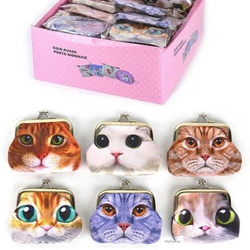 Plånbok med Katt / Börs med Kattansikte