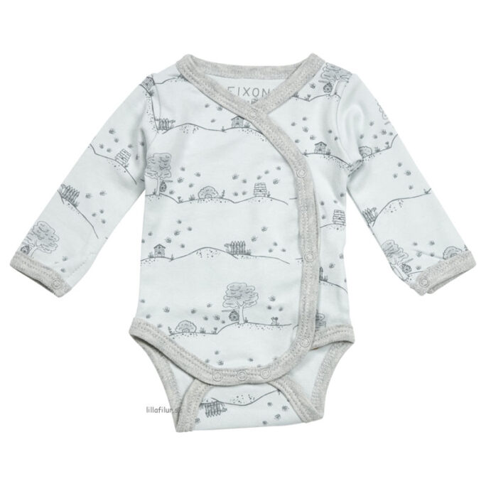 Prematur kläder / Kläder för nyfödd. Blå body storlek 32, 38, 44, 50 och 56 cl.