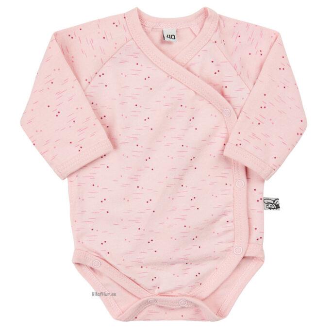 Prematur kläder, Prematur body Rosaprint. Storlek 40, 44 och 48 cl. LillaFilur.se