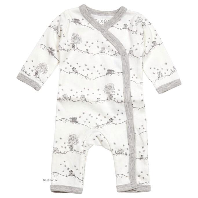 Prematur kläder prematur pyjamas vit med bin.
