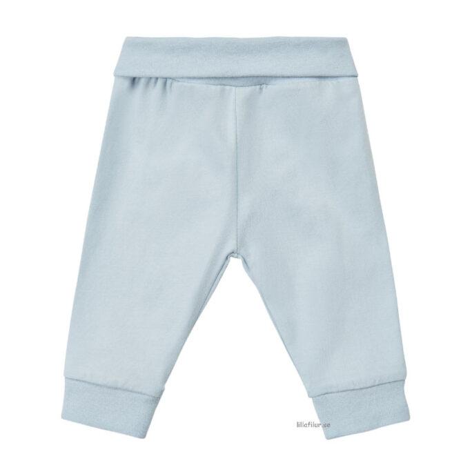 Prematur kläder, Prematur byxor ljusblå. Kläder till förtidigt födda barn.