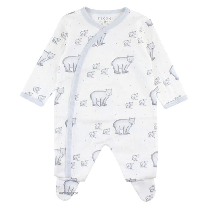 Prematur Pyjamas med fot storlek 44