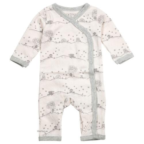 Prematur pyjamas långa ben för prematura barn. Rosa med bin.