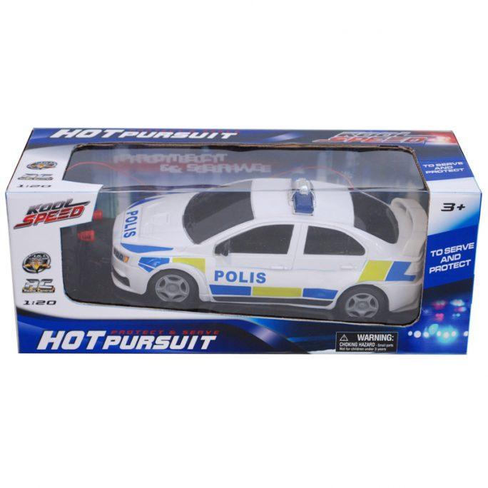 Radiostyrd bil Polisbil 20 cm. Se våra polisleksaker på LillaFilur.se