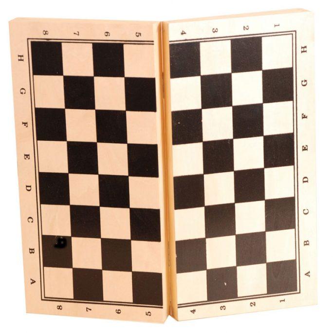 Kombinerat schackspel med schackbräde trä och backgammon trä. Storlek 29x29 cm. Beställ på LillaFilur.se