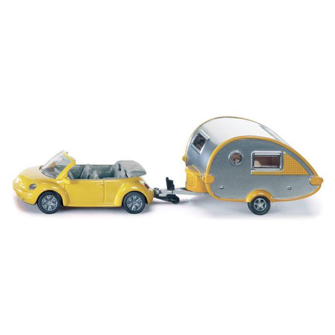 Leksaksbilar i metall. Siku Leksaksbil Bubbla och husvagn som kan kopplas samman eller användas var för sig. Hos LillaFilur.se.