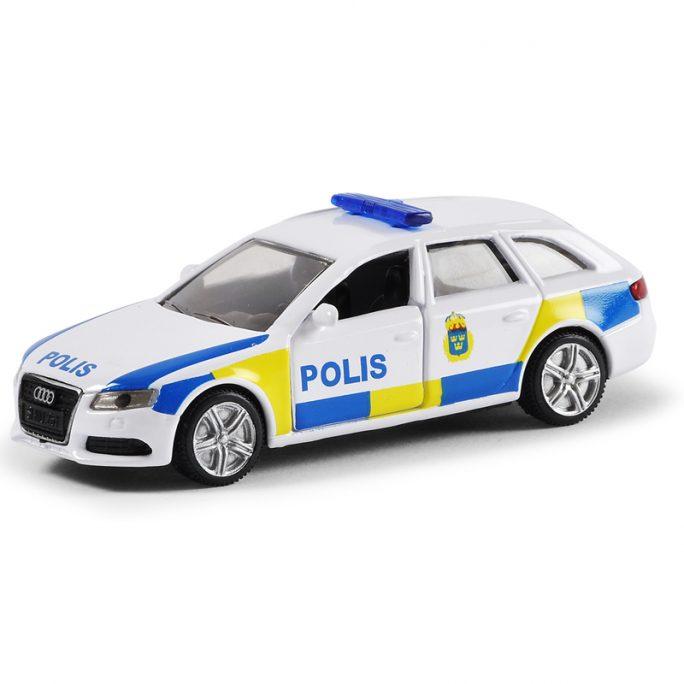 Siku Polisbil leksaksbil i metall. Verklighetstrogen leksaks polisbil. Stort sortiment leksaksbilar i metall hos LillaFilur.se.