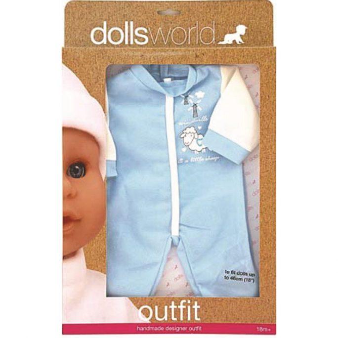 Sparkdräkt för docka 46 cm. Vi har dockor, docktillbehör och dockkläder. LillaFilur.se