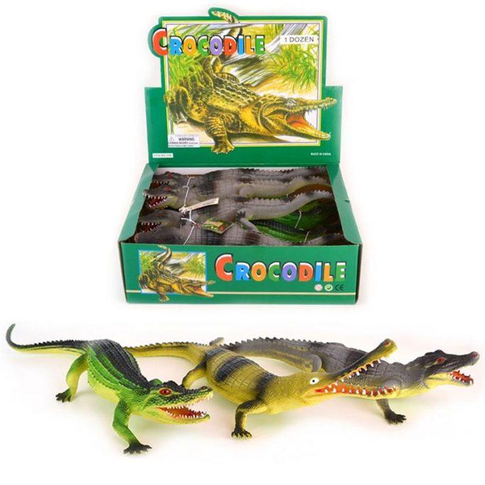 Stora leksaksdjur i plast Krokodil. Storlek 34 cm. Finns flera olika sorter. Beställ leksaksdjur krokodil hos LillaFilur.se