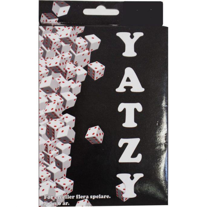 Yatzy Spel. Roligt tärningsspel för en eller flera spelare. Passar från 6 år och uppåt.