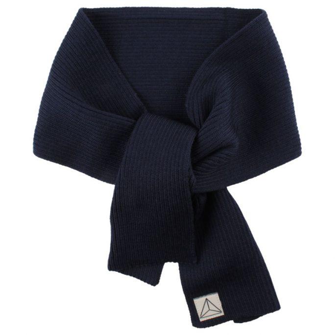 Halsduk för barn. Marinblå. 100% ull. LillaFilur.se