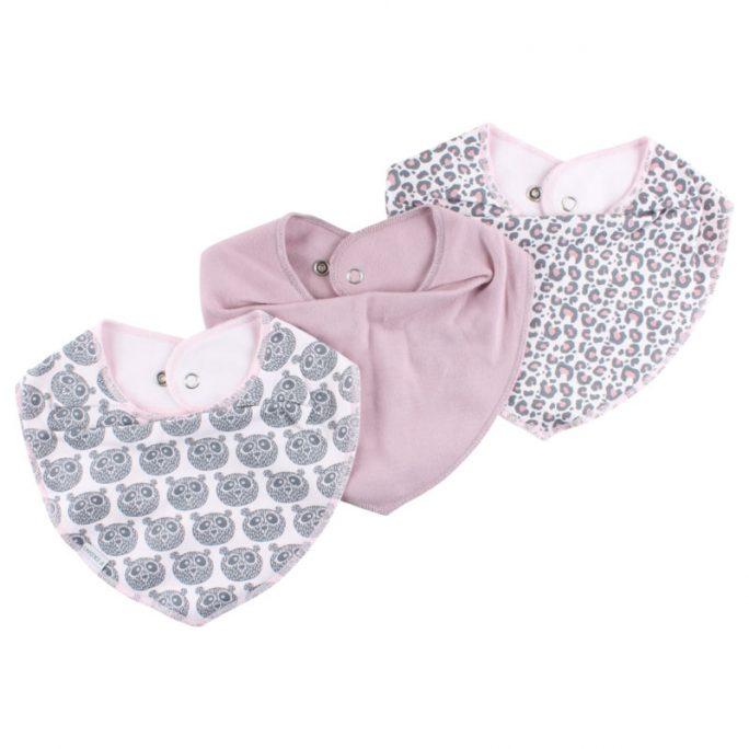 Fixoni bib dregglisar storpack. Drybibs från Fixoni i 3-pack. Fixoni infinity bib innehåller en lila enfärgad bib, en leopardmönstrad rosa dregglis och en rosa dregglis med djur. Beställ bra dregglisar för nyfödd hos LillaFilur.se