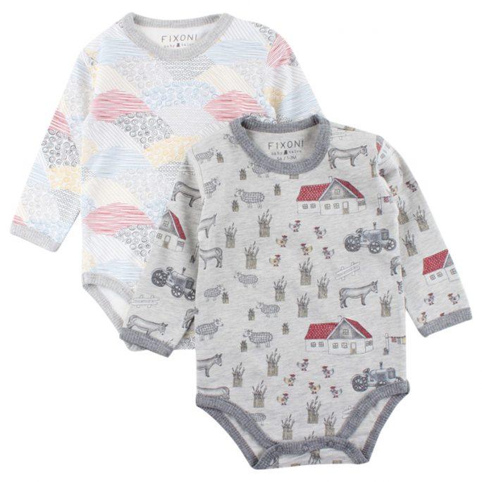 Retro babykläder, babybody 2-pack. LillaFilur.se