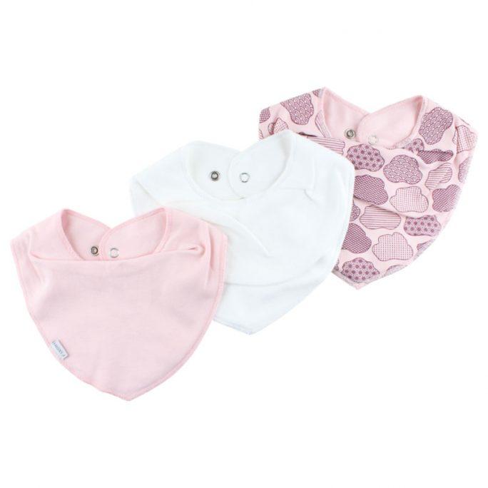 Fixoni infinity bib dregglisar. Enfärgade och mönstrade dregglisar från Fixoni. Innehållen en enfärgad vit bib, en rosa enfärgad dregglis och en mönstrad rosa bib. Handla Fixoni infinity bib hos LillaFilur.se