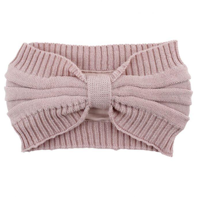 Pannband Barn rosa ull. Stickat vridet pannband barn. 100% ull. Beställ barnkläder i ull hos LillaFilur.se