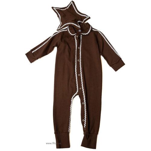 Pepparkaksdräkt / Pyjamas för baby. Söt sparkdräkt med hatt. Storlek 50-80 cl.