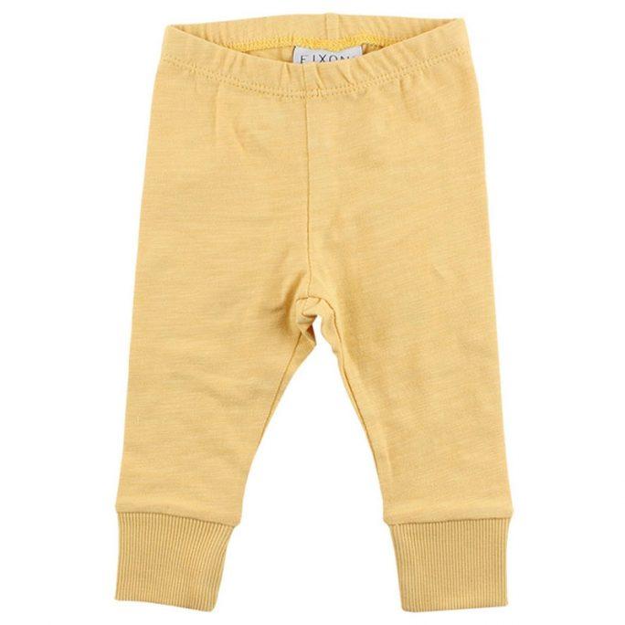 Rea Fixoni Babykläder byxor gula.