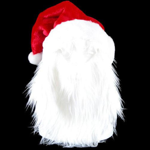 Tomteskägg och tomteluva. Fint vitt skägg för tomte. Köp tomtekläder vuxen hos LillaFilur.se
