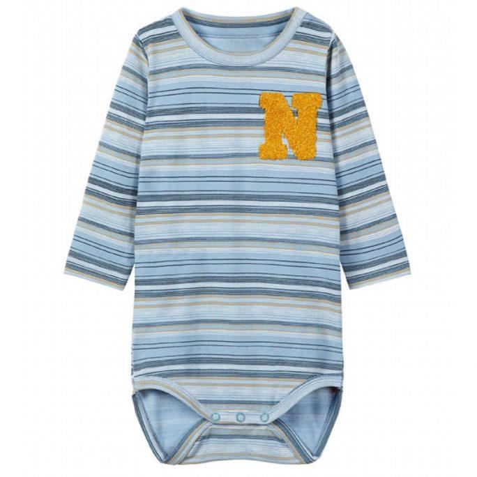 Rea baby body blå storlek 62, 68. Ekologisk bomull. Köp babykläder rea på LillaFilur.se. Omgående leverans.