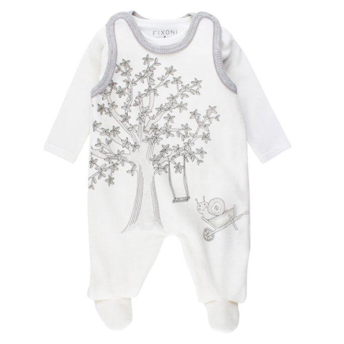 Prematur kläder, babykläder. Sparkdräkt och body storlek 44 cl.