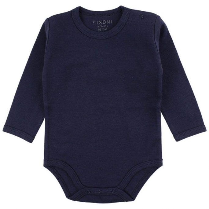 Fixoni baby body rea marinblå.