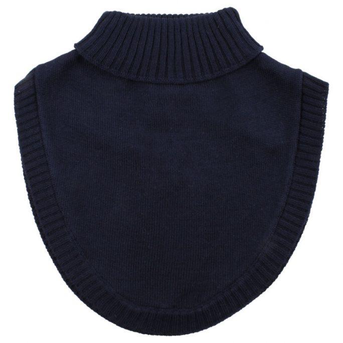 Fuskkrage barn ull marinblå. Stickad fuskkrage barn och baby mönster eller enfärgad. Beställ barnkläder i ull hos LillaFilur.se