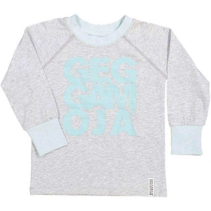 Geggamoja rea Tröja Grå. Snygg unisex tröja från Geggamoja barnkläder.