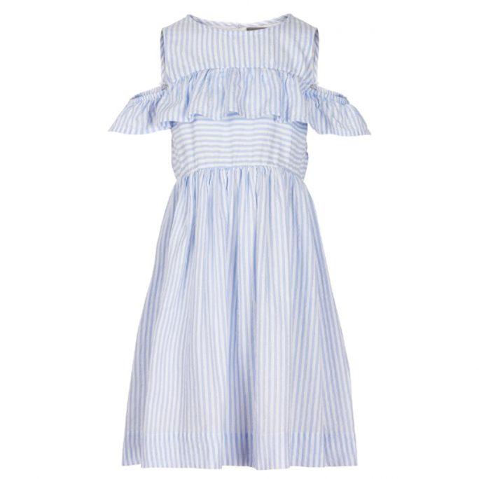 Klänning tjej blå randig storlek 134, 140, 146, 152 cl. Creamie klänning tjej rea 50%. Beställ barnkläder tjej på LillaFilur.se