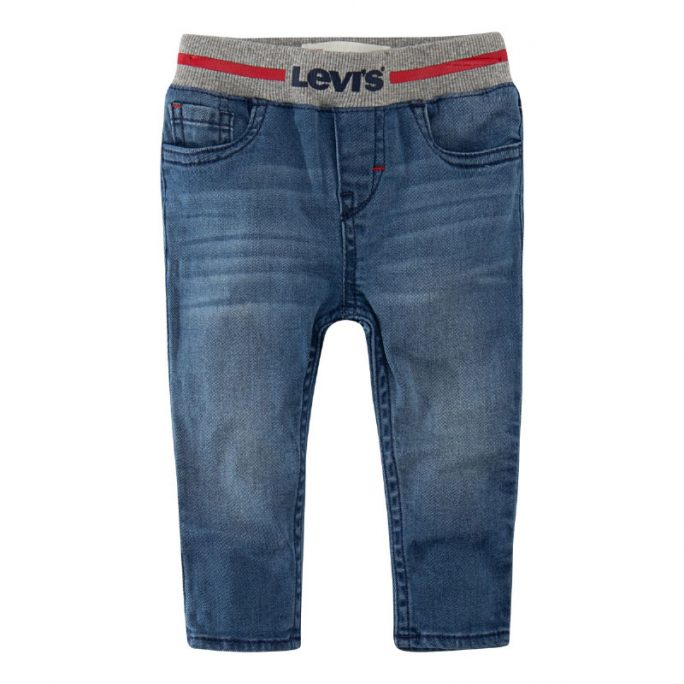 Levis babykläder jeans med mudd i midjan. Beställ babykläder Levis på Lilla Filur.