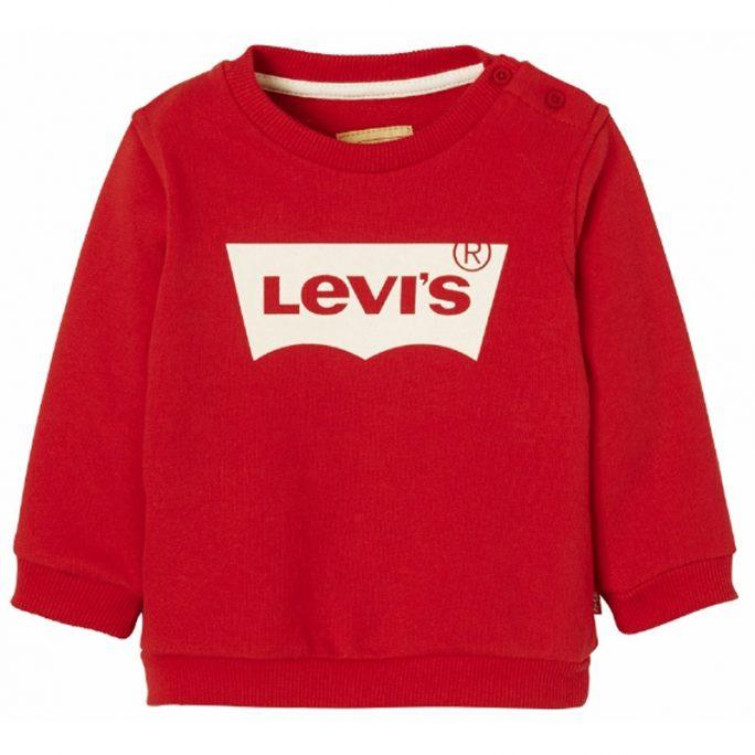 Levis babykläder röd sweatshirt. Just nu rea babykläder från Levis. LillaFilur.se