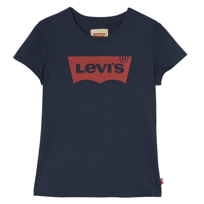 Levis rea barnkläder. Marinblå t-shirt Levis insvängd modell. Beställ barnkläder Levis på LillaFilur.se